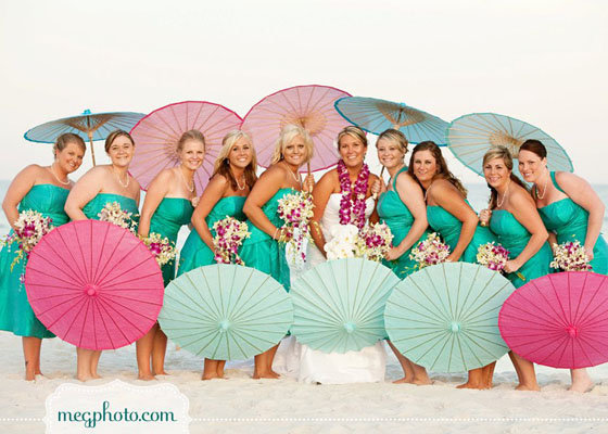 parasols for bridal party