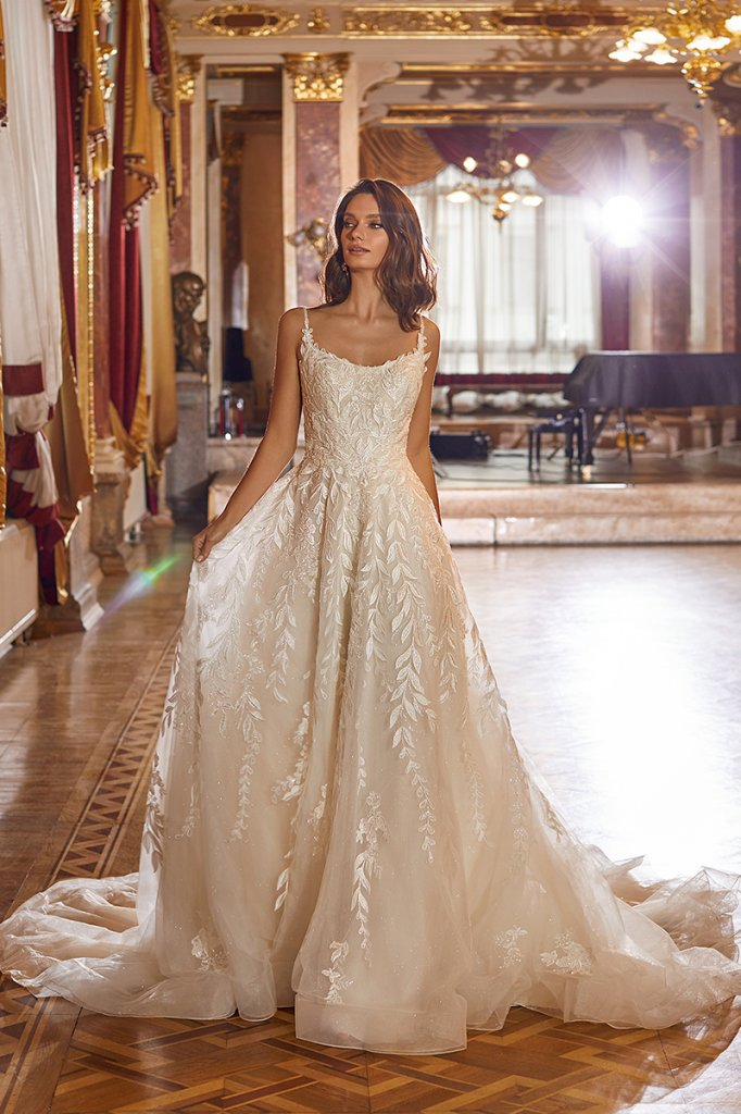moonlight couture leaf wedding gown