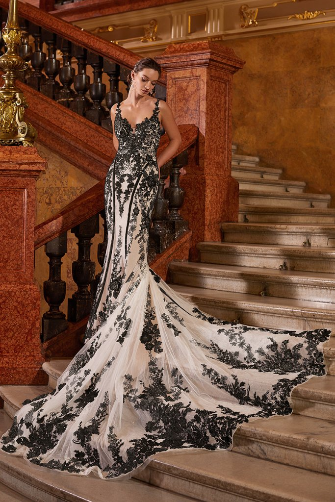 moonlight couture black wedding gown