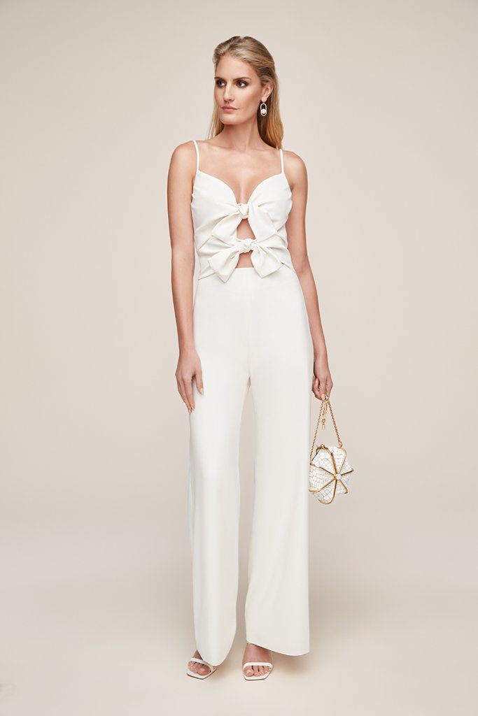 anne barge jumpsuit bow
