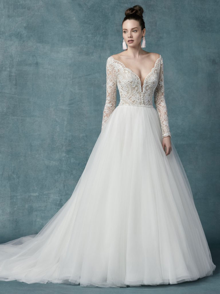 Maggie Sottero Mallory Dawn Sleeves
