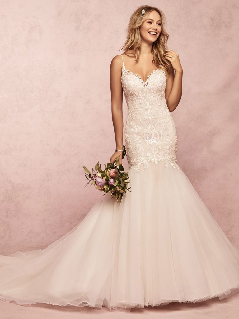 Rebecca Ingram Fawn Lace Gown