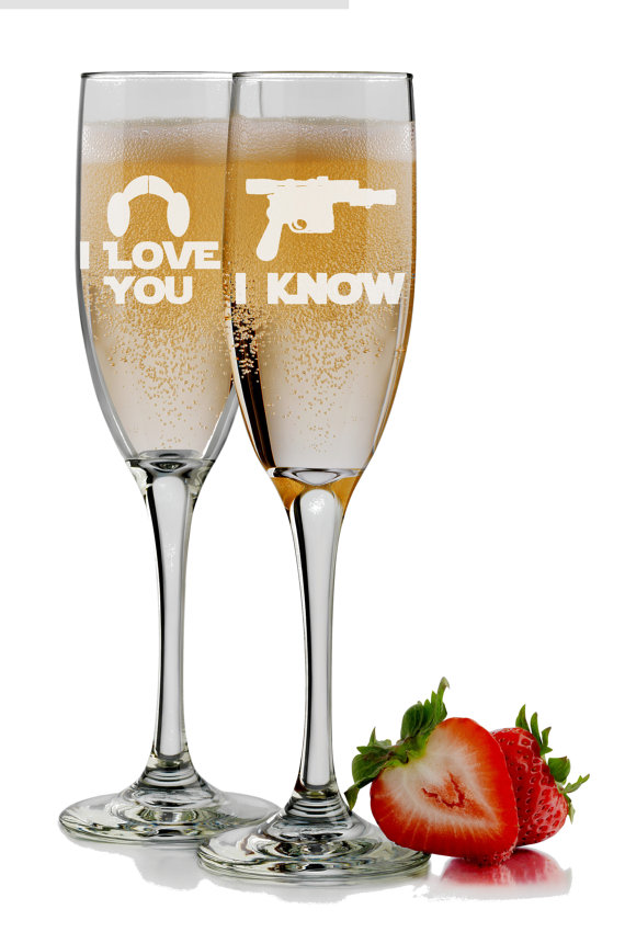 I Love You I Know Champagne Flutes