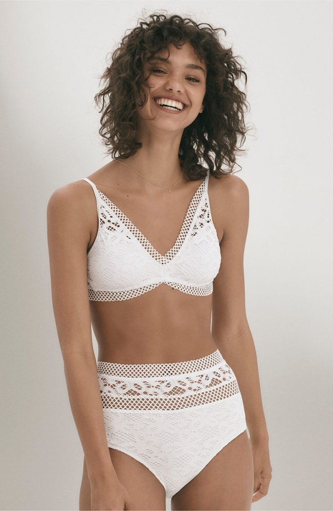 ece526f771 Simply Be Edited By Amber Rose Textured Bikini Tank Top, $46, and Briefs,  $30