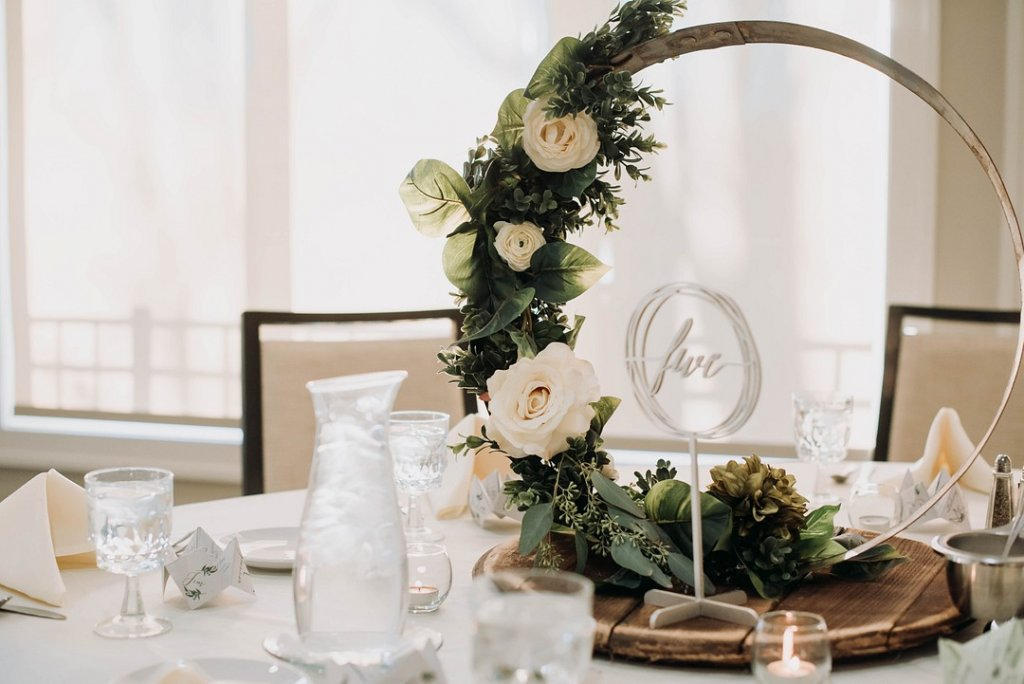Wreath wedding centerpiece