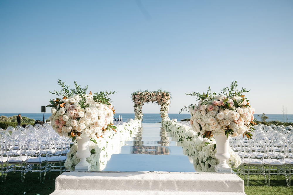 Wedding ceremony overlooking the beach
