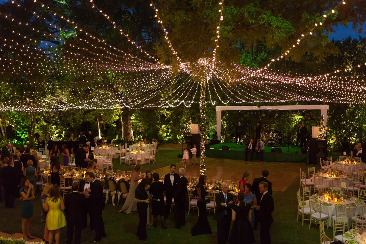 Photo of the day bridalguide for Outdoor wedding reception lighting