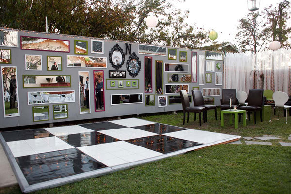 Modern Backyard Wedding Ideas : modern outdoor wedding reception