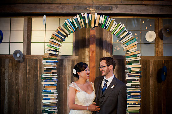 book wedding ceremony arch