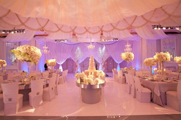 wedding reception uplighting