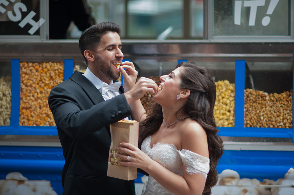 Couple Feeding Popcorn