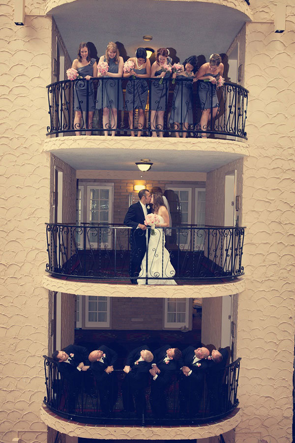 creative photo on balcony