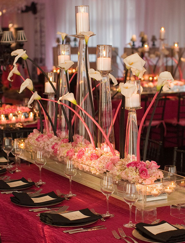 david tutera tall centerpieces