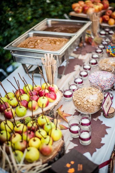 make your own caramel apple bar