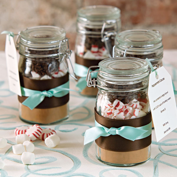 diy hot chocolate wedding favor