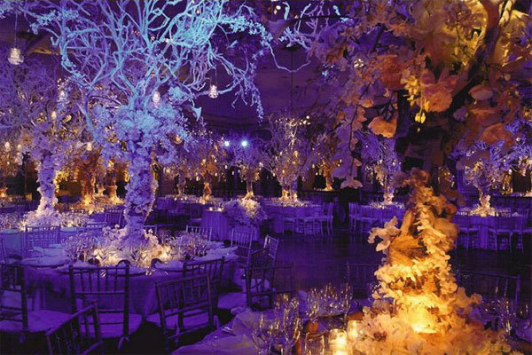 Why We Love It The dramatic centerpieces combined with the purple