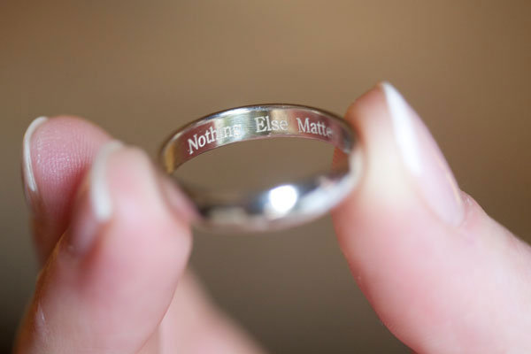inscribe your first dance song inside your wedding ring