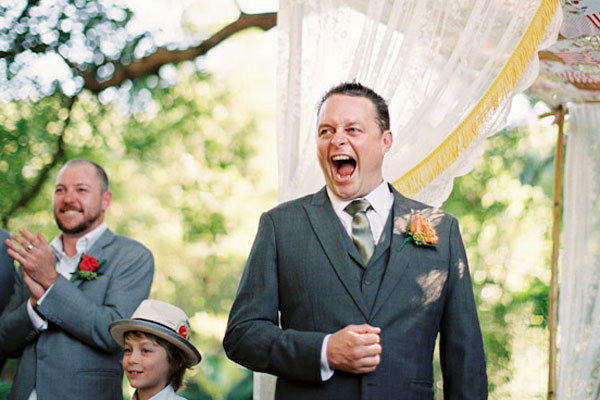 groom reaction wedding ceremony