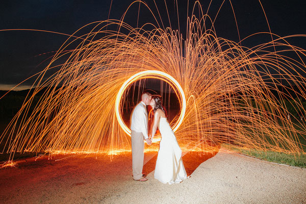 incredible special effect wedding photo