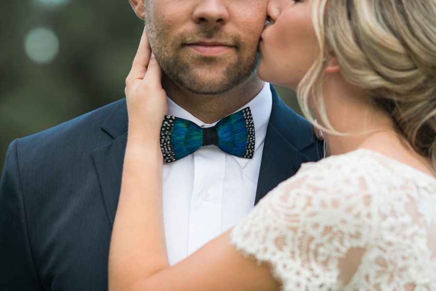 Peacock Bow Tie for Groom