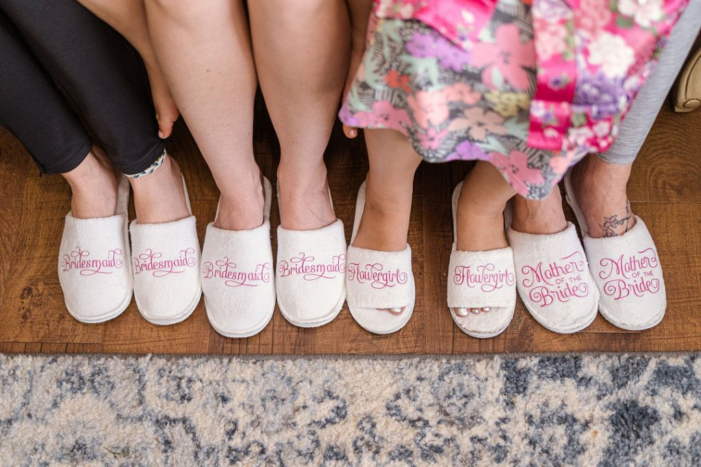 wedding party slippers