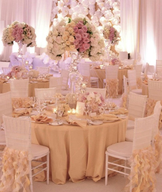 Romantic Reception Decor - Pink Wedding Decor | Wedding Planning