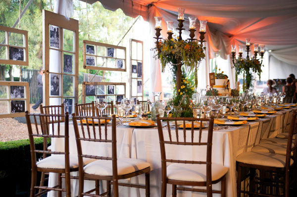 15 fun wedding reception ideas bridalguide memory lane photo wall junglespirit Images