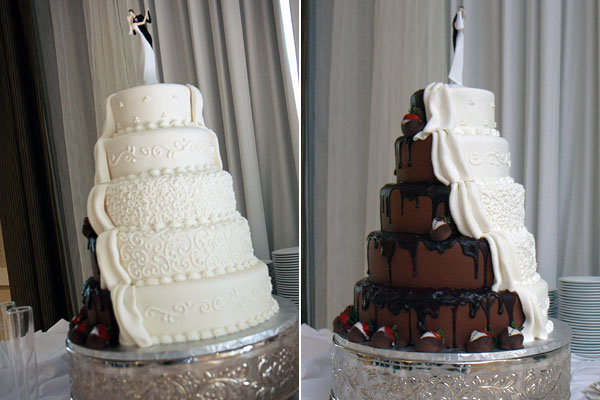 shockleys sweet shoppe half and half wedding cake
