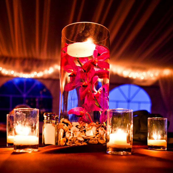 Easy Floating Candle Centerpieces