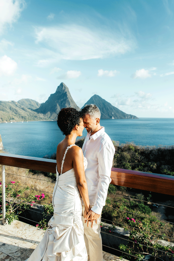 bride and groom st lucia wedding