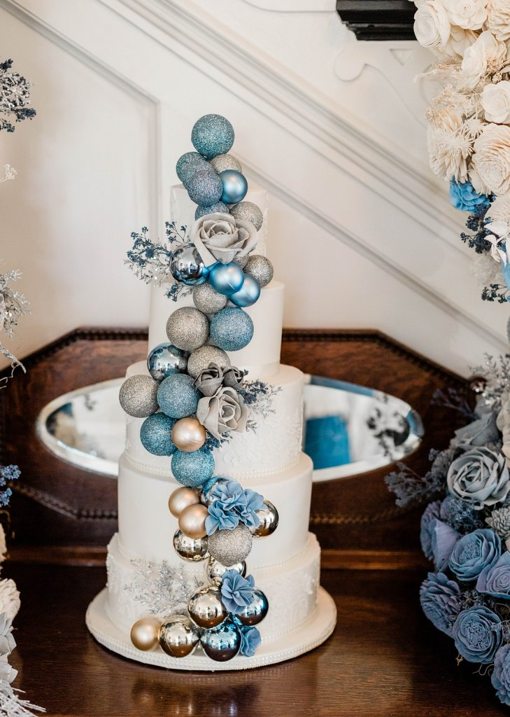 Wedding cake with ornaments