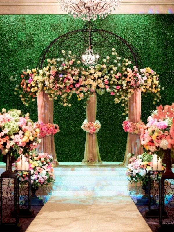 garden wedding indoors
