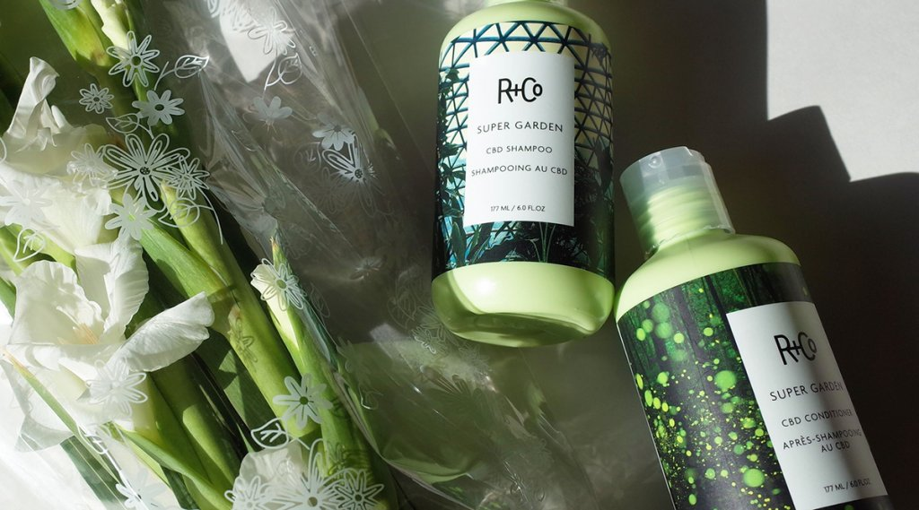 R and Co Supergarden CBD Shampoo and Conditioner