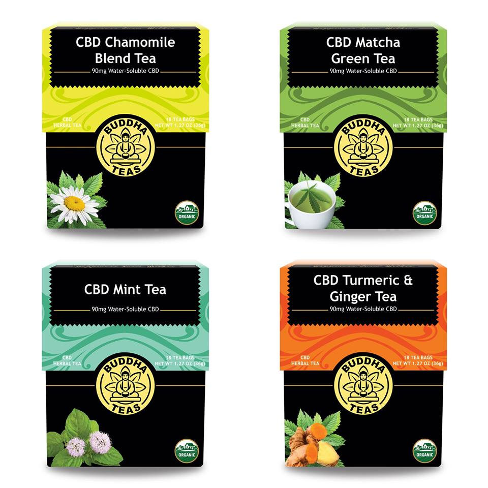 CBD Tea Collection by Buddha Teas