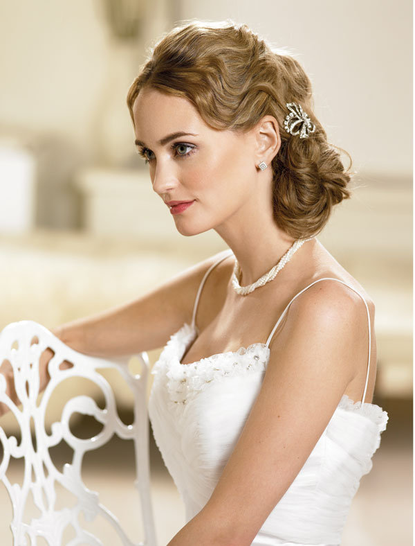 Half-Up Wedding Hairstyles with Veil