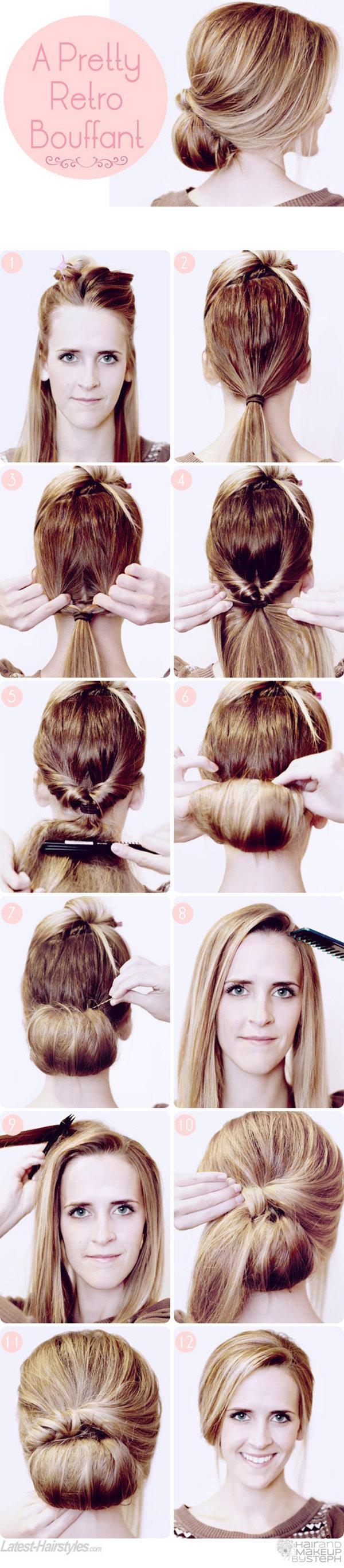 Прическа пучок на длинные волосы своими руками