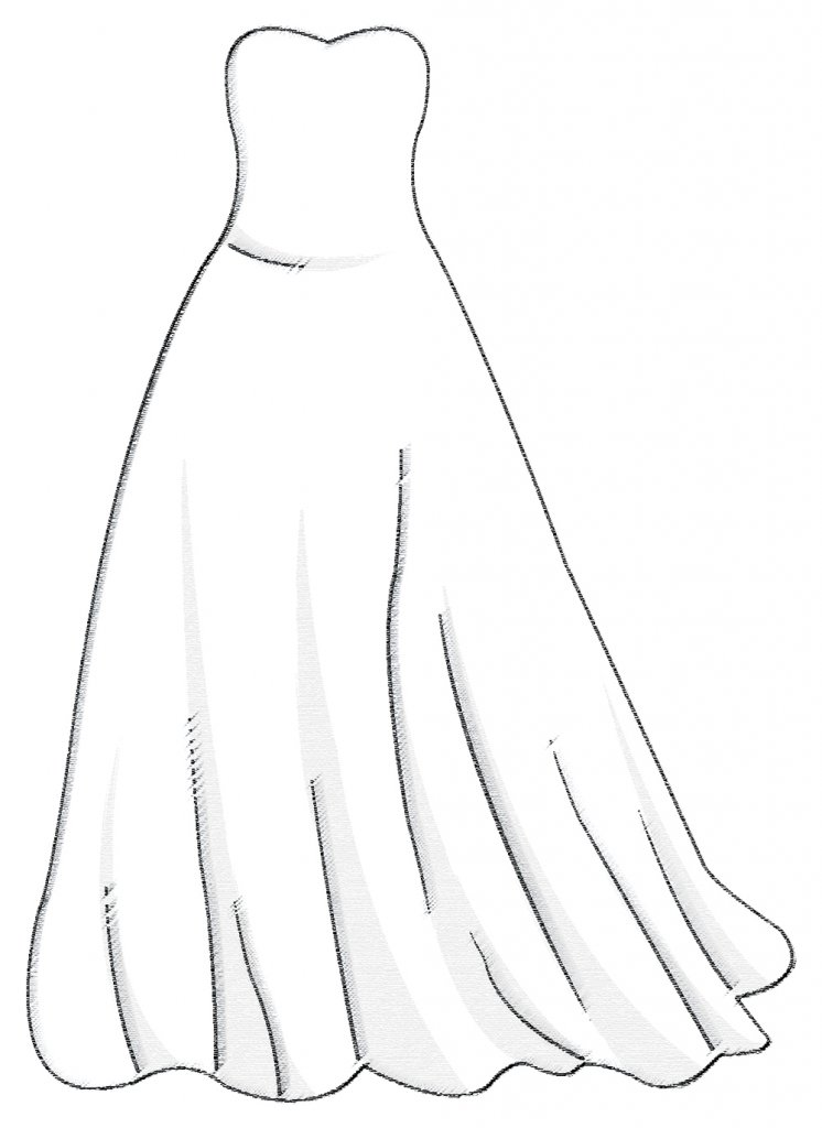 Ballgown wedding dress silhouette