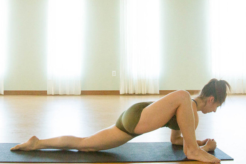 yoga dragon pose