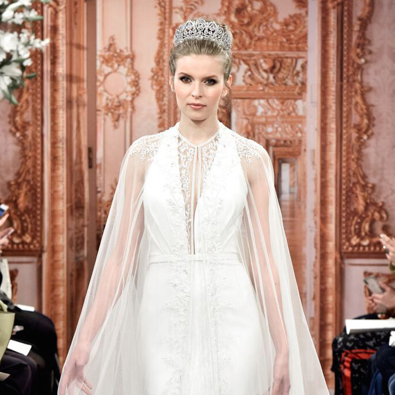 theia wedding dress and crown
