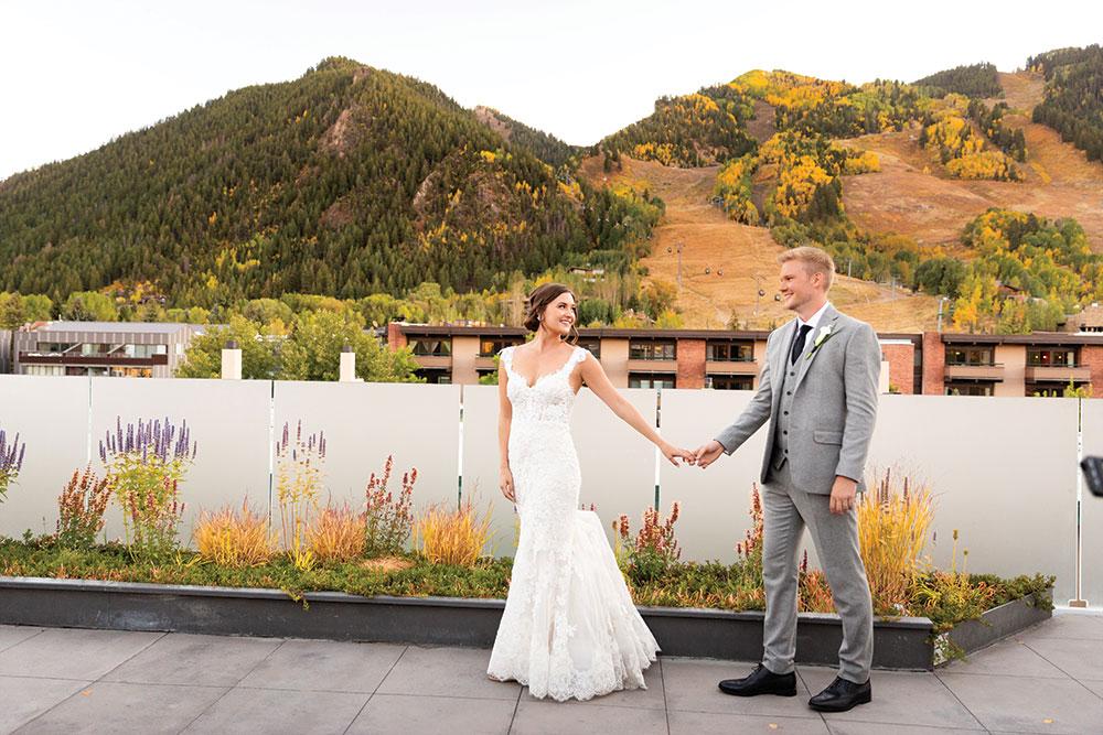Real wedding in Aspen Colorado