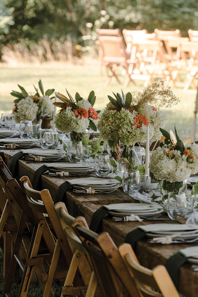 Eastwind outdoor wedding reception