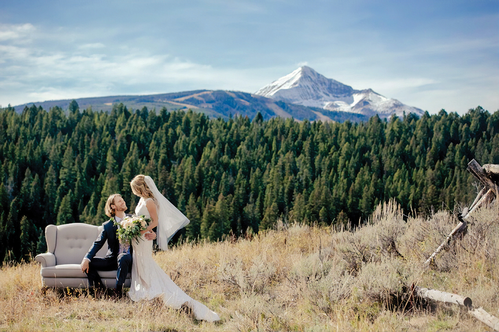 Lone Mountain Ranch Montana wedding