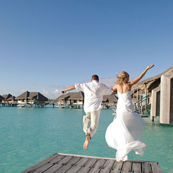 Get married in tahiti bridalguide taking the plunge at the intercontinental bora bora resort and thalasso spa photo courtesy of the intercontental resort junglespirit Choice Image