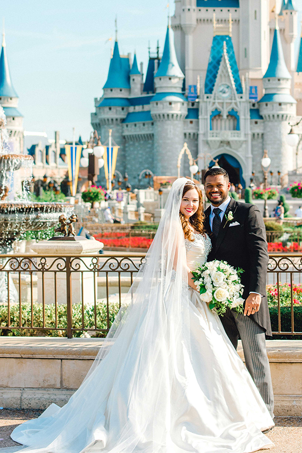 wedding disney couple royal kingdom weddings fairytale cinderella castle magic park inspired walt jay happily ever own wins fairy celebrates