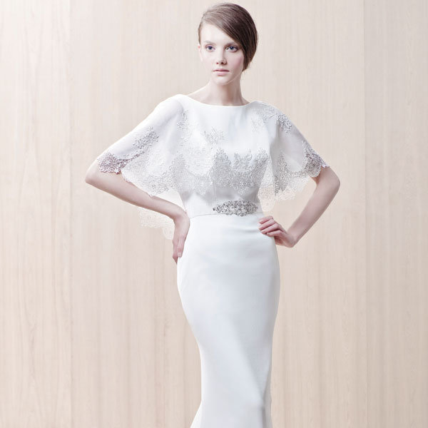 4 wedding gowns with capes bridalguide for Wedding dress with a cape