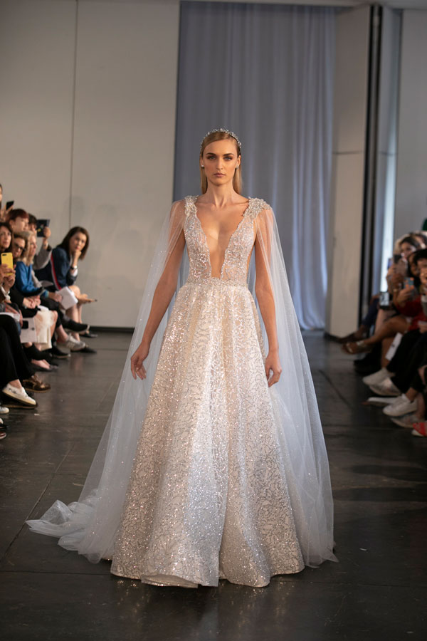 Wedding Gown with Dramatic Sleeves