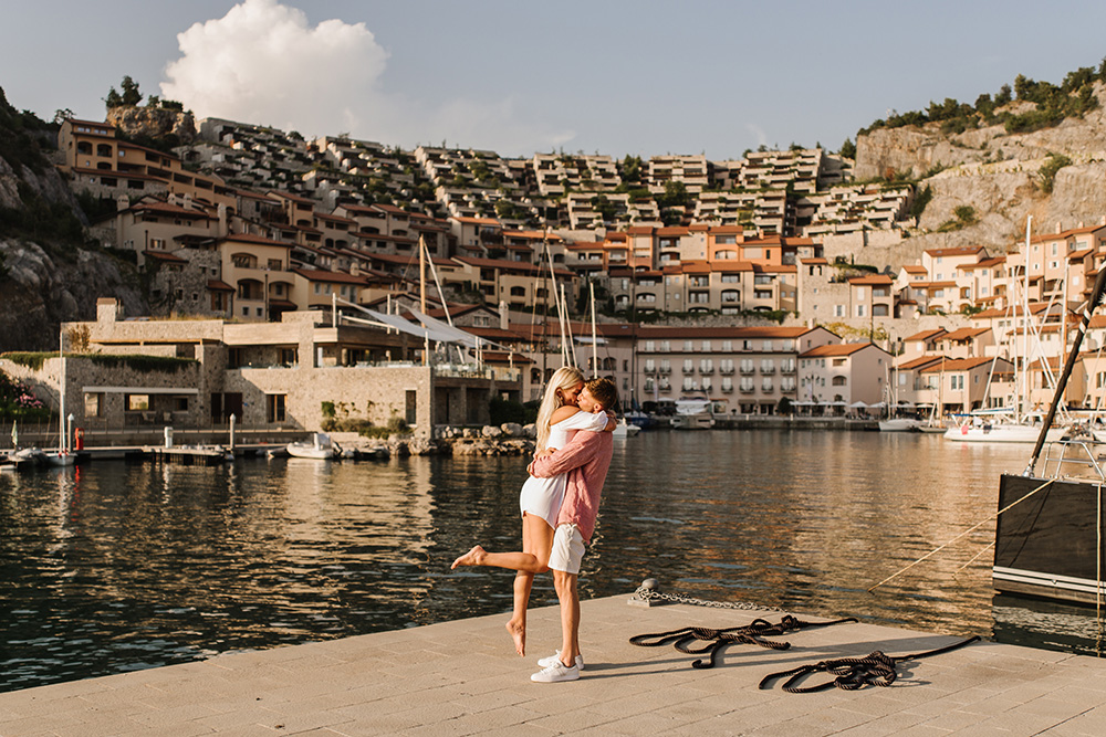 Proposal in Portopiccolo Italy