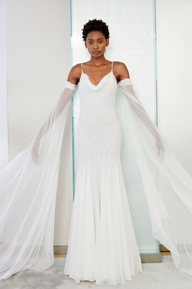 Dramatic Sleeves Wedding Gown