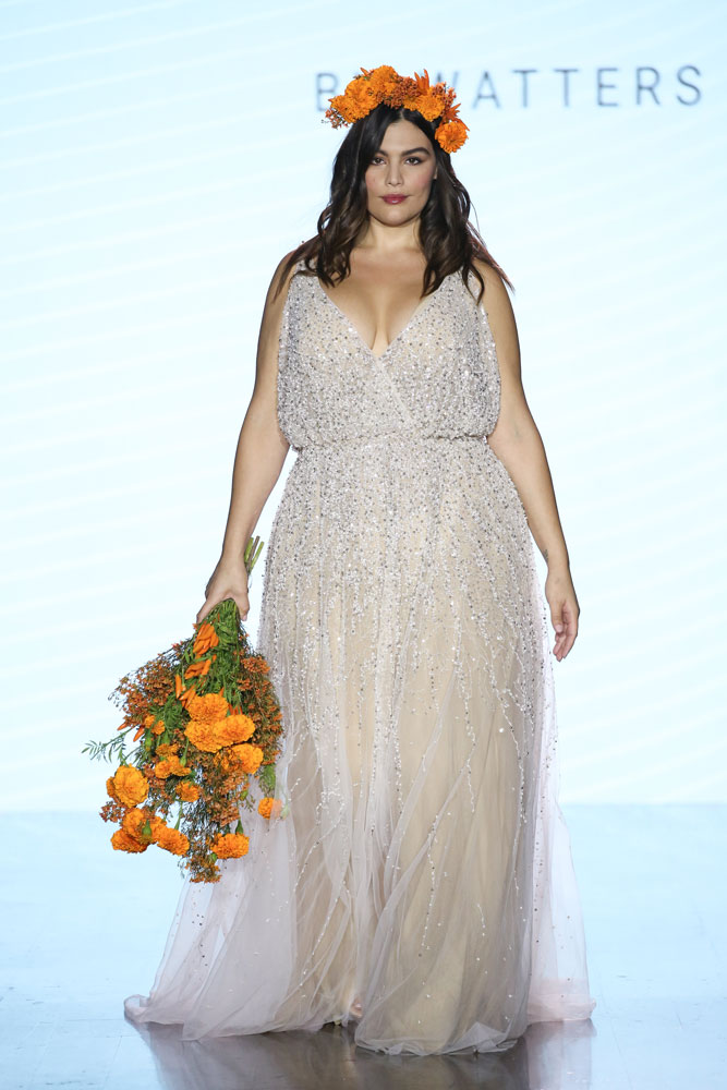 plus size sparkly wedding gown