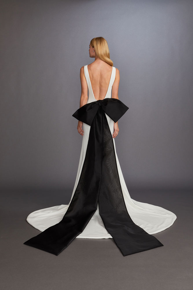 Black Bow Wedding Gown